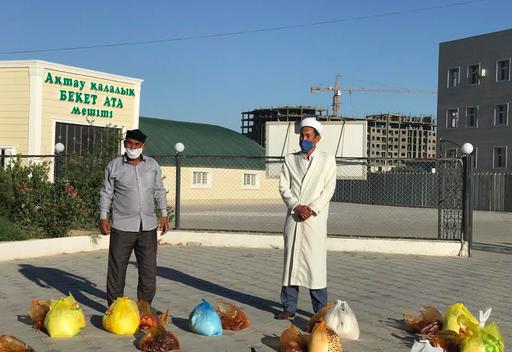 Ақтау: Қалалық мешітте құрбан шалынды