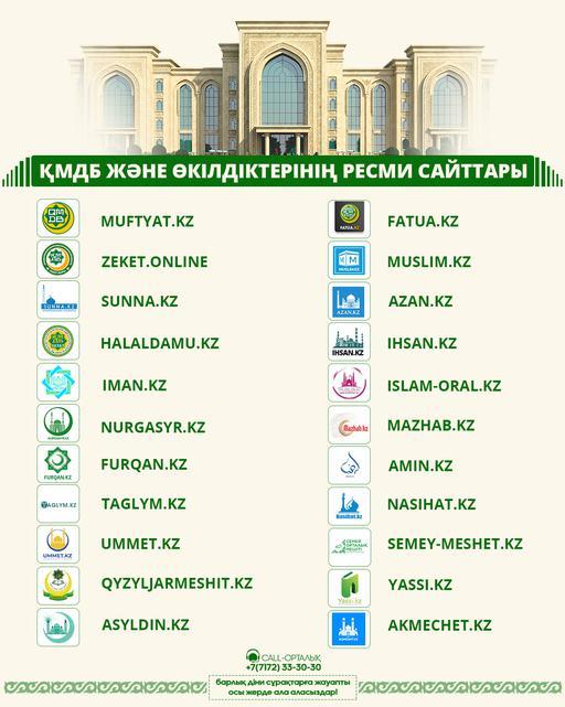 ҚМДБ және өкілдіктерінің ресми сайттары