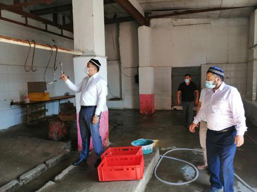 Тараз: Қасапханалардың Құрбан айтқа дайындығы тексерілді