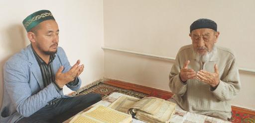 Түркістан: Қарияның батасын алды