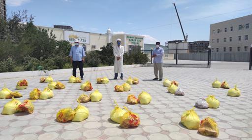 Ақтау: Мұқтаж отбасыларға азық-түлік таратылды