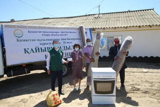 Атырау: «Қайырымдылық керуені» – Махамбет, Индер аудандарында