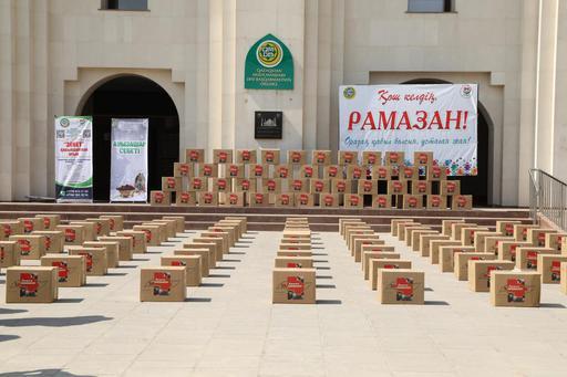 Шымкент: 1000 отбасыға «Рамазан қоржыны» үлестірілді