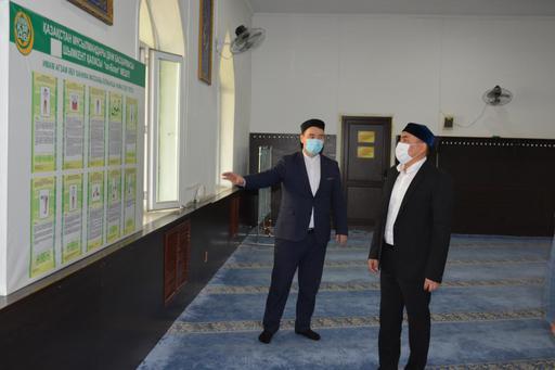 Шымкент: Бас имам Еңбекші ауданында болды